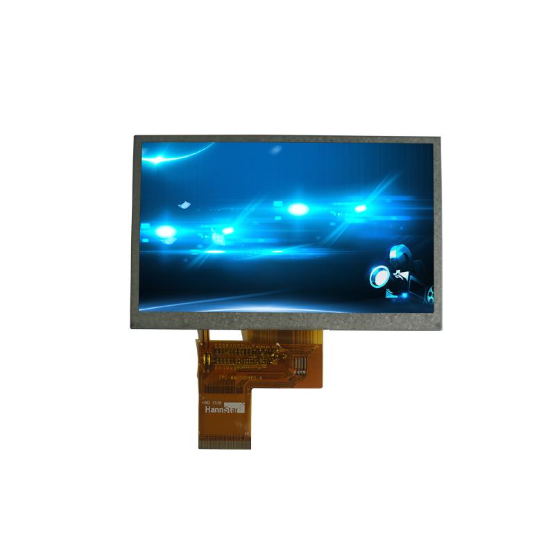 5寸TFT液晶显示屏 480×272 40PIN TN横屏RGB