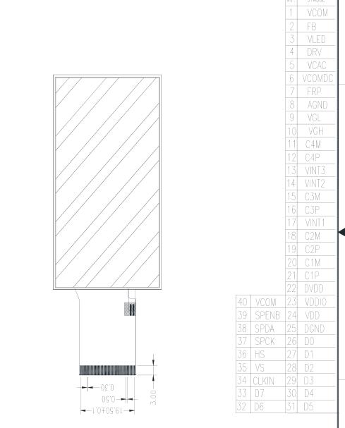 2.7寸液晶屏定制